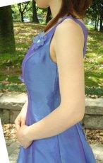 画像5: 1番人気の演奏会・発表会用ステージドレス(オーガンジーのバックリボンフレアーロングドレス) (5)