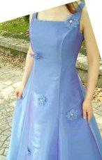 画像4: 1番人気の演奏会・発表会用ステージドレス(オーガンジーのバックリボンフレアーロングドレス) (4)