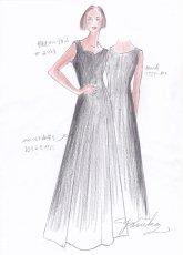 画像9: 【音楽を始めたら】胸元ハートカットのフレアーロングドレス (9)
