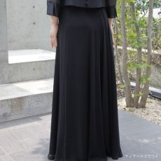 画像4: 【スッキリ美人への近道】フォーマルブラックのシフォンスカート (4)