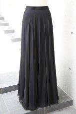 画像5: 【スッキリ美人への近道】フォーマルブラックのシフォンスカート (5)