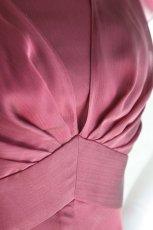 画像12: SALE / 展示品につき半額(42,000→21,000円) ハイウエスト切替の袖付きフレアーロングドレス(レッド)S号 (12)