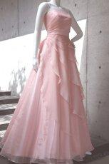 画像6: 【花びらをまとう】アシンメトリーティアードのフレアーロングドレス (6)
