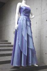 画像7: 【花びらをまとう】アシンメトリーティアードのフレアーロングドレス (7)