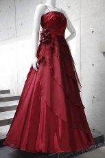 画像9: 【花びらをまとう】アシンメトリーティアードのフレアーロングドレス (9)