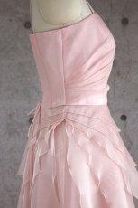 画像14: 【花びらをまとう】アシンメトリーティアードのフレアーロングドレス (14)