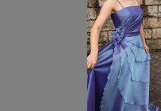 画像3: 【花びらをまとう】アシンメトリーティアードのフレアーロングドレス (3)