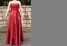 画像5: 【花びらをまとう】アシンメトリーティアードのフレアーロングドレス (5)