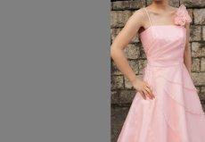 画像2: 【花びらをまとう】アシンメトリーティアードのフレアーロングドレス (2)