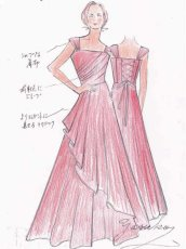 画像19: ライトシャンタンのオーバースカート付き風フレアーロングドレス (19)