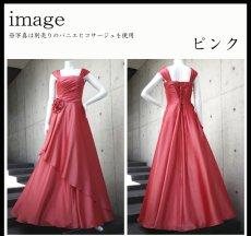 画像10: ライトシャンタンのオーバースカート付き風フレアーロングドレス (10)