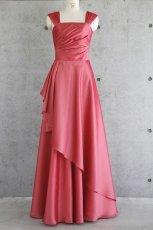 画像15: ライトシャンタンのオーバースカート付き風フレアーロングドレス (15)