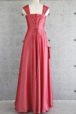 画像16: ライトシャンタンのオーバースカート付き風フレアーロングドレス (16)