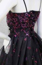 画像7: 【数量限定】イタリア製オーガンジーで仕立てるふわひら羽根とオーバースカート付き風フレアーロングドレス(ブラック) (7)