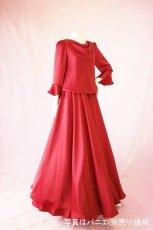 画像4: 【高品質】とろみが美しいモードサテンの赤いブラウス&ロングスカート(お得なセット) (4)
