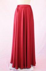 画像19: 【高品質】とろみが美しいモードサテンの赤いブラウス&ロングスカート(お得なセット) (19)