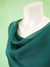 画像15: 深みが美しい楊柳シフォンのグリーンブラウス&ロングスカート(お得なセット) (15)