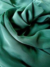 画像11: 深みが美しい楊柳シフォンのグリーンブラウス(単品) (11)