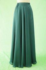 画像19: 深みが美しい楊柳シフォンのグリーンブラウス&ロングスカート(お得なセット) (19)