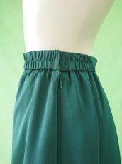 画像7: 深みが美しい楊柳シフォンのグリーンロングスカート(単品) (7)