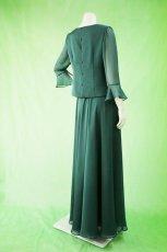画像3: 深みが美しい楊柳シフォンのグリーンブラウス&ロングスカート(お得なセット) (3)