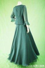 画像5: 深みが美しい楊柳シフォンのグリーンブラウス&ロングスカート(お得なセット) (5)