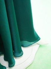 画像3: 深みが美しい楊柳シフォンのグリーンロングスカート(単品) (3)