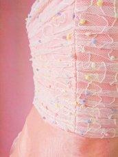 画像12: 数量限定 / やさしいプリンセス風ギャザー&ティアードのフレアーロングドレス (12)