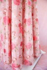 画像12: 数量限定 / ポワン袖に癒されるピンクローズ(バラ)の袖付きフレアーロングドレス (12)