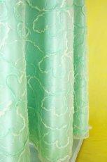 画像12: 数量限定 / たっぷりハートがキュート&エレガントなミントグリーンの袖付きフレアーロングドレス (12)