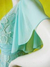 画像18: 数量限定 / たっぷりハートがキュート&エレガントなミントグリーンの袖付きフレアーロングドレス (18)