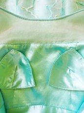 画像20: 数量限定 / たっぷりハートがキュート&エレガントなミントグリーンの袖付きフレアーロングドレス (20)