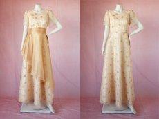 画像12: 数量限定 / オーバースカート付き2wayの袖付きフレアーロングドレス (12)