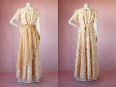 画像13: 数量限定 / オーバースカート付き2wayの袖付きフレアーロングドレス (13)