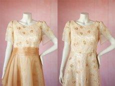 画像14: 数量限定 / オーバースカート付き2wayの袖付きフレアーロングドレス (14)