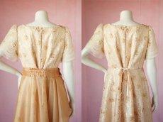 画像15: 数量限定 / オーバースカート付き2wayの袖付きフレアーロングドレス (15)