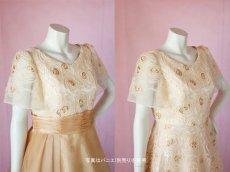 画像4: 数量限定 / オーバースカート付き2wayの袖付きフレアーロングドレス (4)