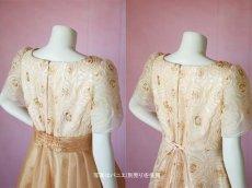 画像5: 数量限定 / オーバースカート付き2wayの袖付きフレアーロングドレス (5)