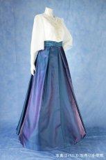 画像3: 数量限定 / 煌きのビジュー入り袖付きフレアーロングドレス (3)