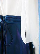 画像12: 数量限定 / 煌きのビジュー入り袖付きフレアーロングドレス (12)