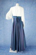 画像16: 数量限定 / 煌きのビジュー入り袖付きフレアーロングドレス (16)