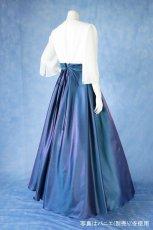 画像4: 数量限定 / 煌きのビジュー入り袖付きフレアーロングドレス (4)