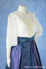 画像5: 数量限定 / 煌きのビジュー入り袖付きフレアーロングドレス (5)