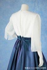 画像6: 数量限定 / 煌きのビジュー入り袖付きフレアーロングドレス (6)