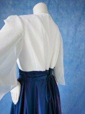 画像8: 数量限定 / 煌きのビジュー入り袖付きフレアーロングドレス (8)