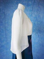 画像11: 数量限定 / 煌きのビジュー入り袖付きフレアーロングドレス (11)