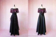 画像12: 数量限定 / イタリア製オーガンジーを使ったオーバースカート付き2wayの袖付きフレアーロングドレス (12)