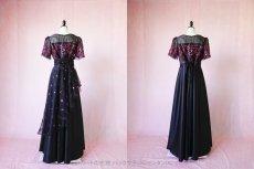画像13: 数量限定 / イタリア製オーガンジーを使ったオーバースカート付き2wayの袖付きフレアーロングドレス (13)