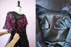 画像16: 数量限定 / イタリア製オーガンジーを使ったオーバースカート付き2wayの袖付きフレアーロングドレス (16)