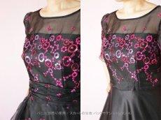 画像6: 数量限定 / イタリア製オーガンジーを使ったオーバースカート付き2wayの袖付きフレアーロングドレス (6)